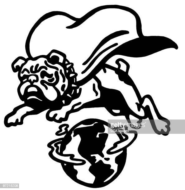 bulldog - heroes stock illustrations