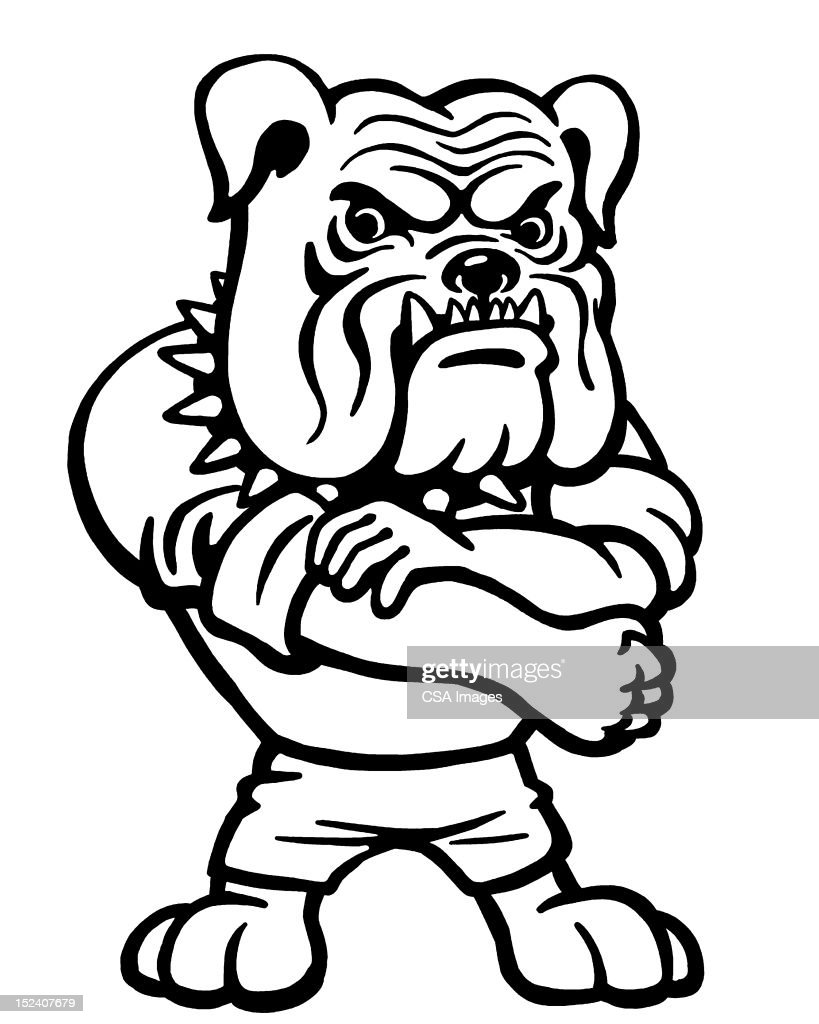 Bulldog Rolling Up Sleeve Stock Illustration | Getty Images