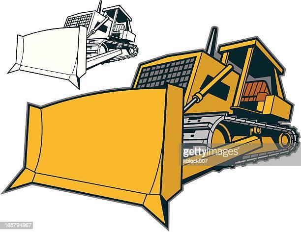 ブルドーザー - ブルドーザー点のイラスト素材/クリップアート素材/マンガ素材/アイコン素材