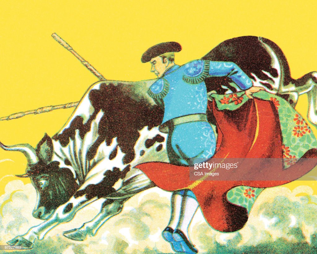 Bullfight : stock illustration