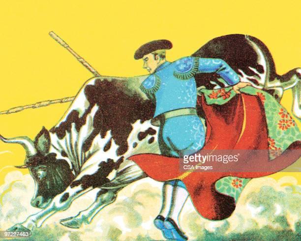 bullfight - bullfighter stock illustrations, clip art, cartoons, & icons