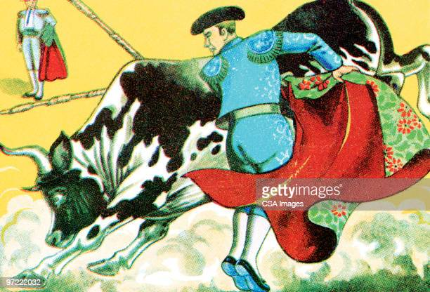 bullfighter - iberian peninsula stock illustrations, clip art, cartoons, & icons