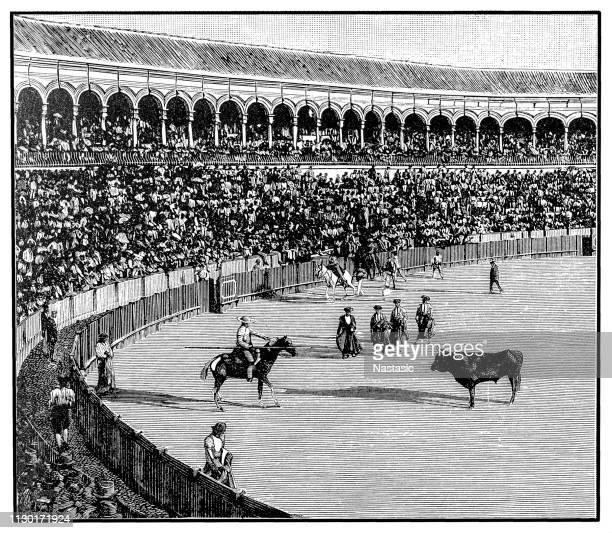 ilustraciones, imágenes clip art, dibujos animados e iconos de stock de corridas de toros - matador un toro - toreo