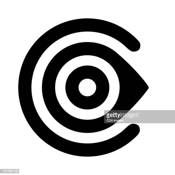 bullseye c - the alphabet stock illustrations