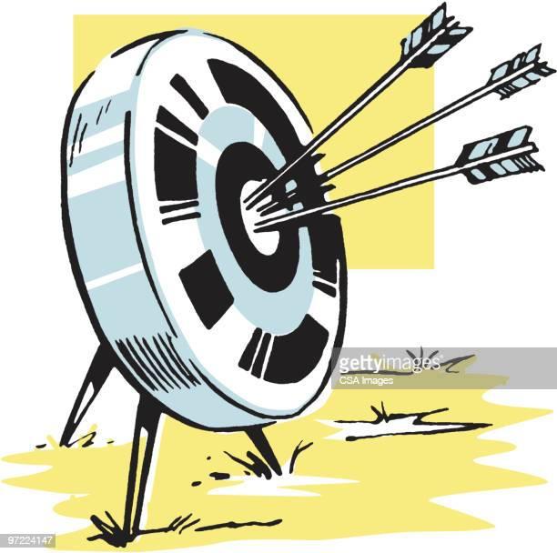 bullseye - sports target stock illustrations