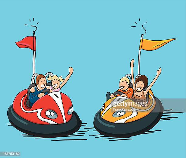 Illustrations et dessins anim s de auto tamponneuse getty images - Dessin auto tamponneuse ...