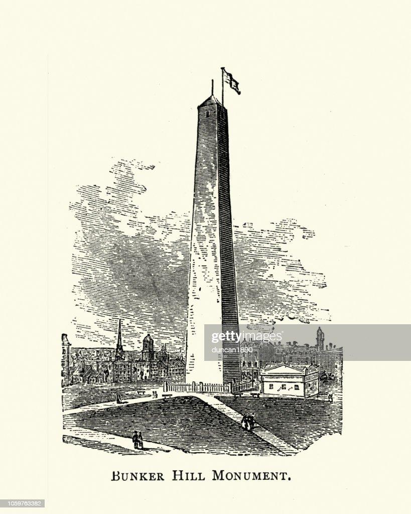 Bunker Hill Monument, 19th Century : stock illustration