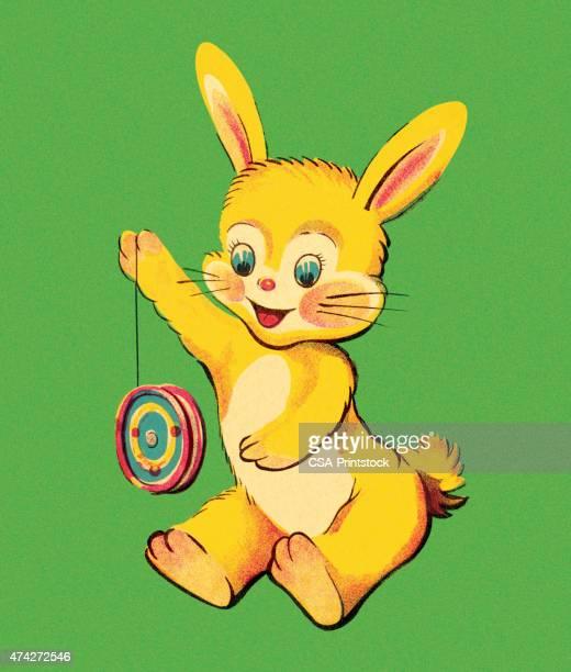 Bunny Playing With Yo-Yo