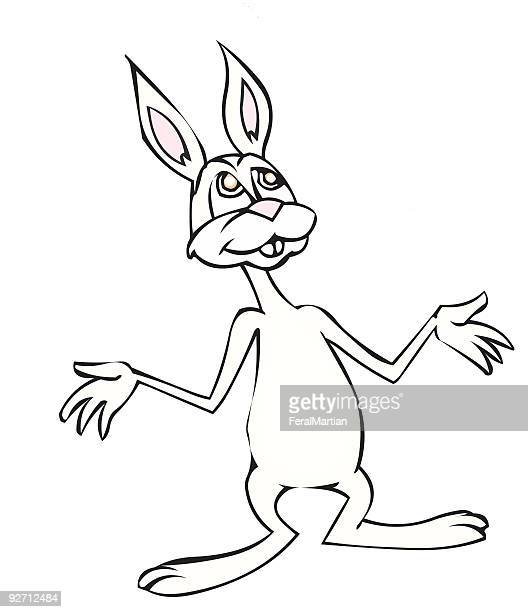 bunny shrug - shrugging stock illustrations, clip art, cartoons, & icons