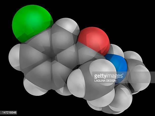 bupropion drug molecule - quitting smoking stock illustrations, clip art, cartoons, & icons