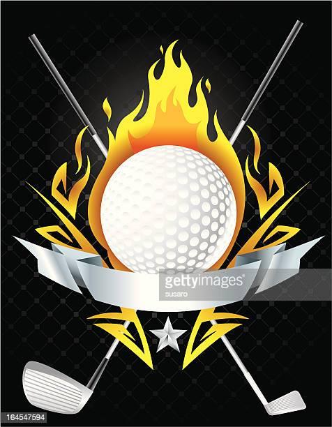 burning golf ball - teeing off stock illustrations, clip art, cartoons, & icons