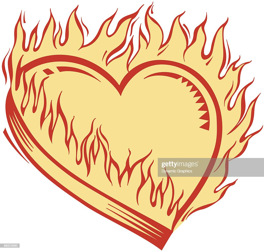 Burning Heart Color Illustrator Ver 3 My Hearts On Fire For You Dont