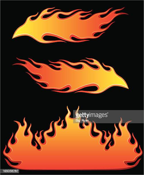 burning hot - flame stock illustrations