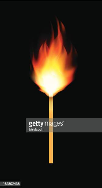burning match - sparks stock illustrations, clip art, cartoons, & icons