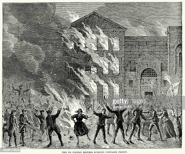 Burning of Newgate Prison, London