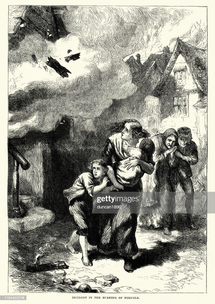 アメリカ独立戦争のノーフォークの炎上1776 : ストックイラストレーション
