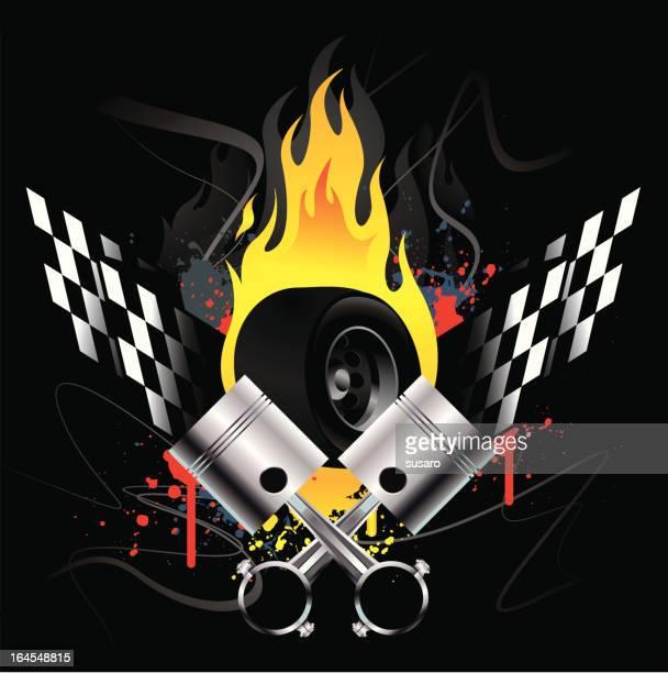 Burning Racing Icon