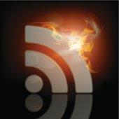 burning RSS icon