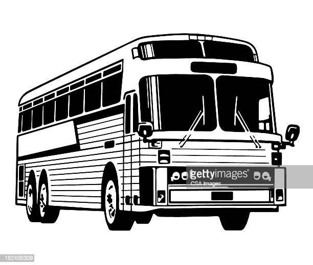 60点の観光バスのイラスト素材クリップアート素材マンガ素材