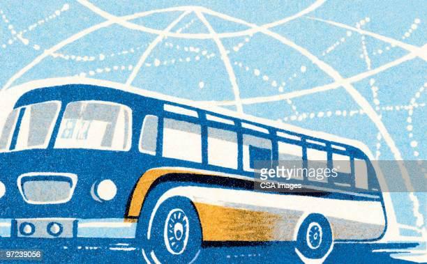 bus - report stock illustrations