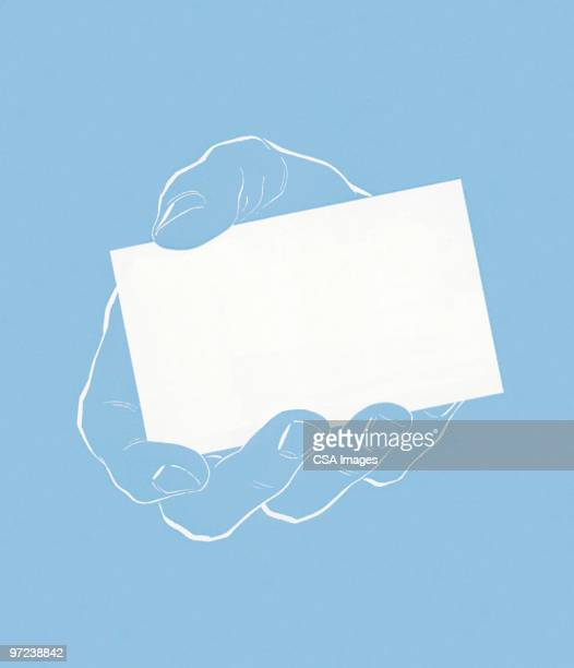 business card - paperwork stock illustrations