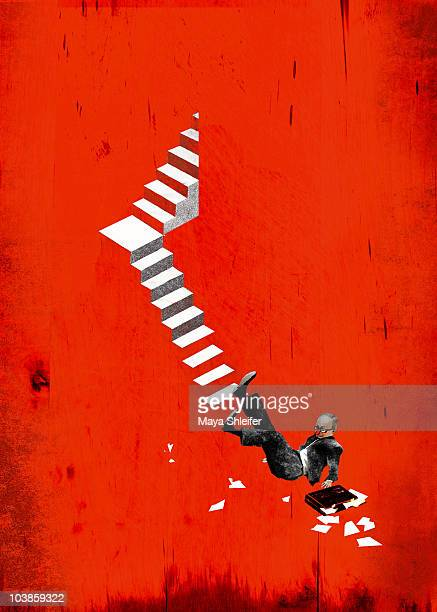 business crash - failure stock illustrations