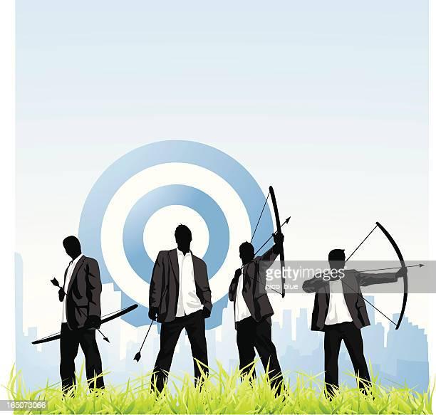 business goals - archery stock illustrations
