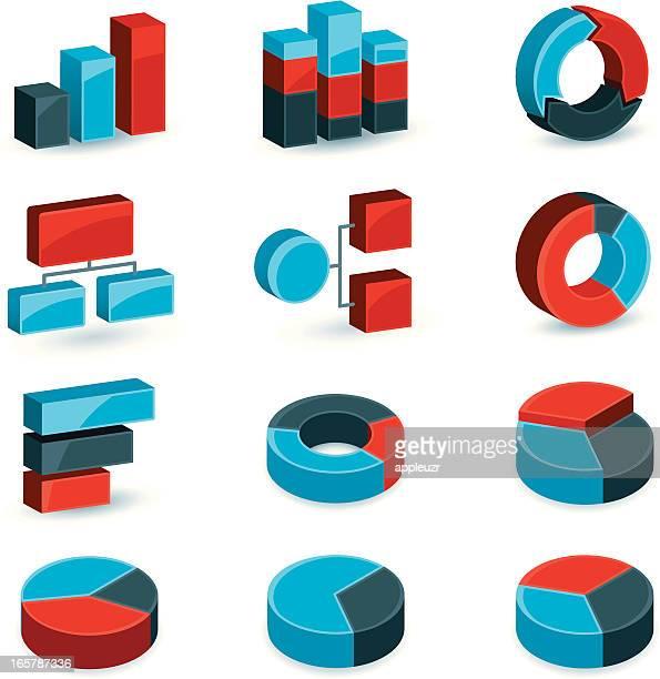business-grafiken und diagrammen - tortengrafik stock-grafiken, -clipart, -cartoons und -symbole