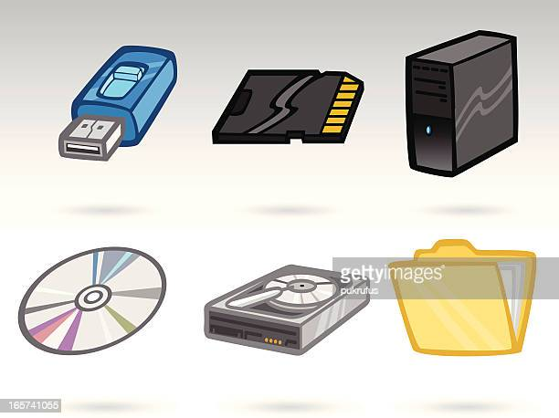 business icons - usb stick stock illustrations, clip art, cartoons, & icons