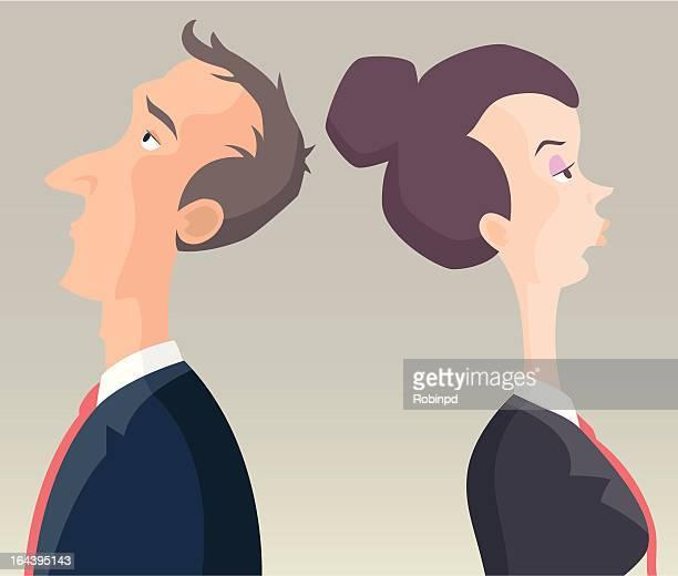 business man & woman - updo stock illustrations, clip art, cartoons, & icons