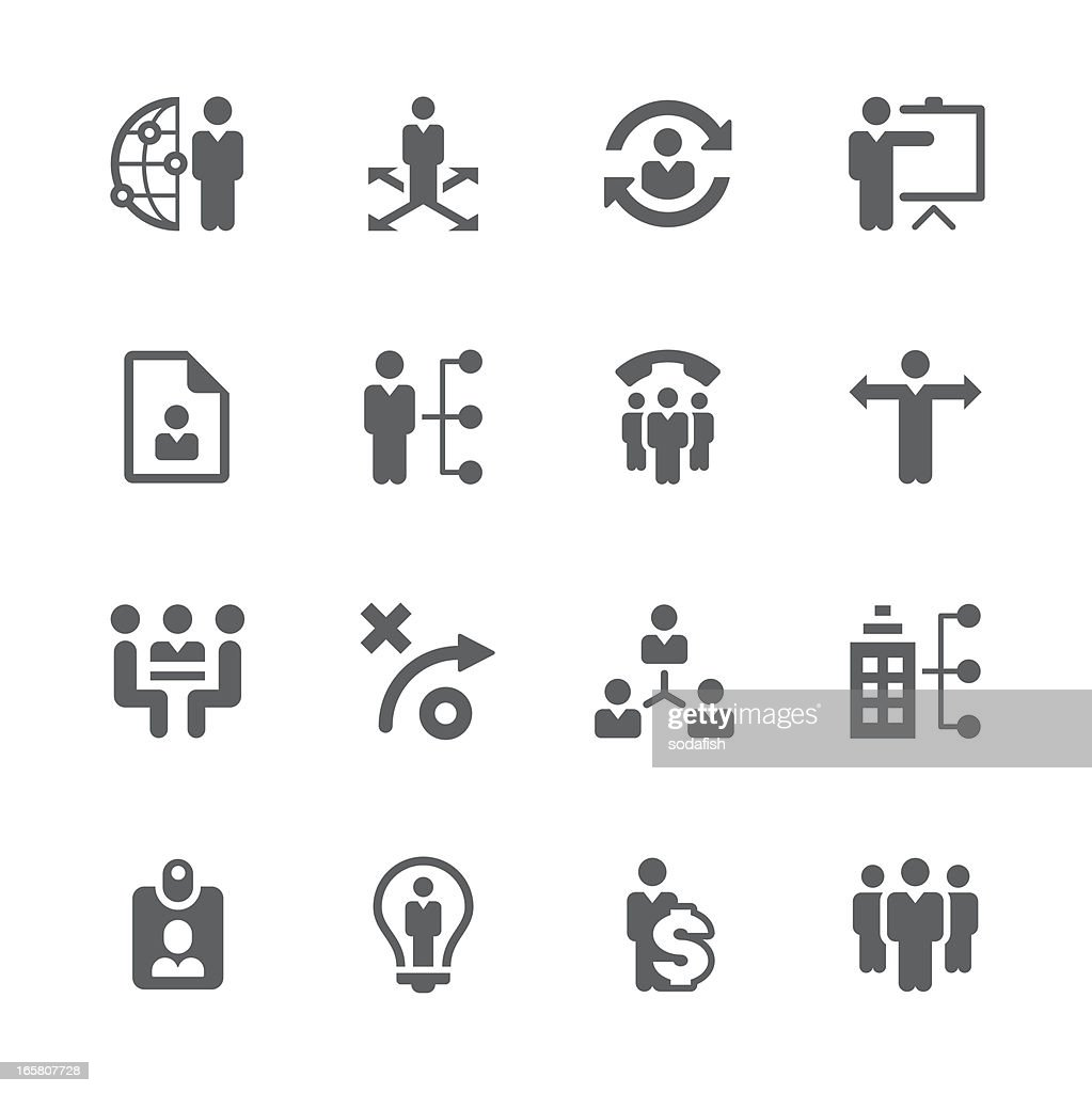 Business management ,strategy and human resource icons | prime series
