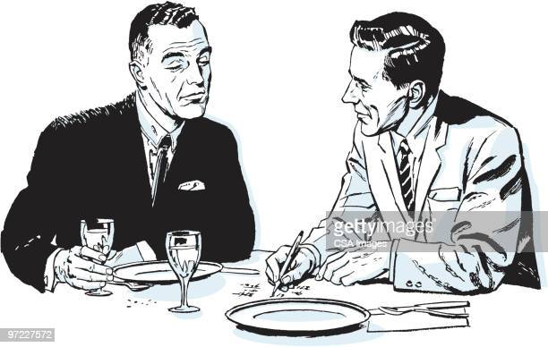 business meal - corporate business stock illustrations