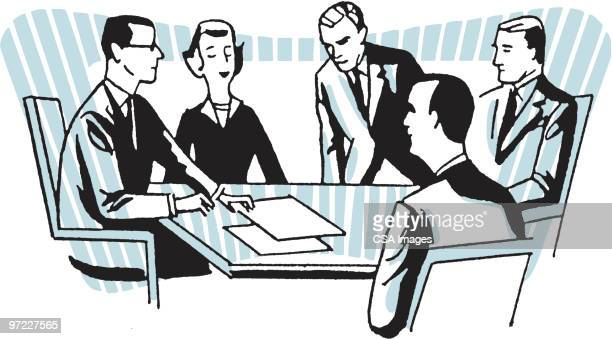 business meeting - meeting stock illustrations
