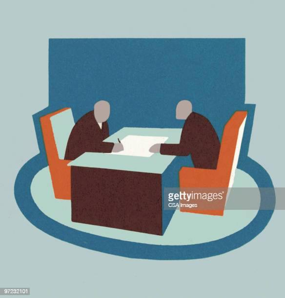 business meeting - office stock illustrations