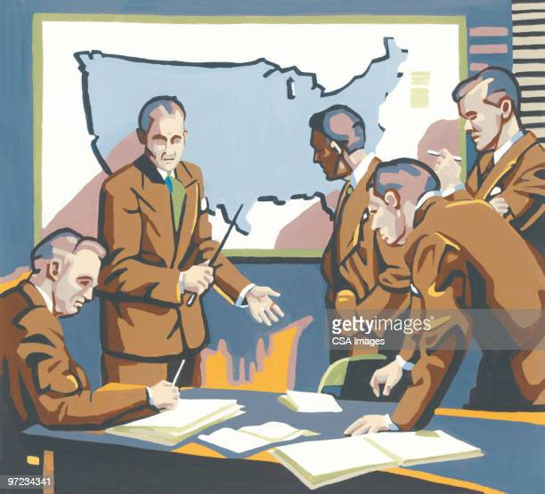 business meeting - corporate business stock illustrations