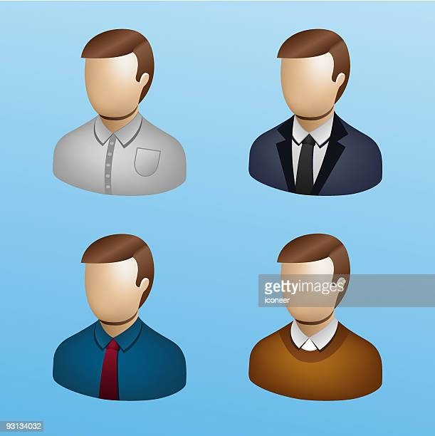 Business People Icon Set - Businessman 3D