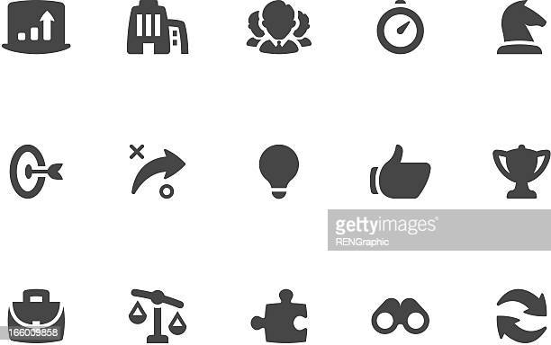 Business Strategy Icon Set | Coal Series