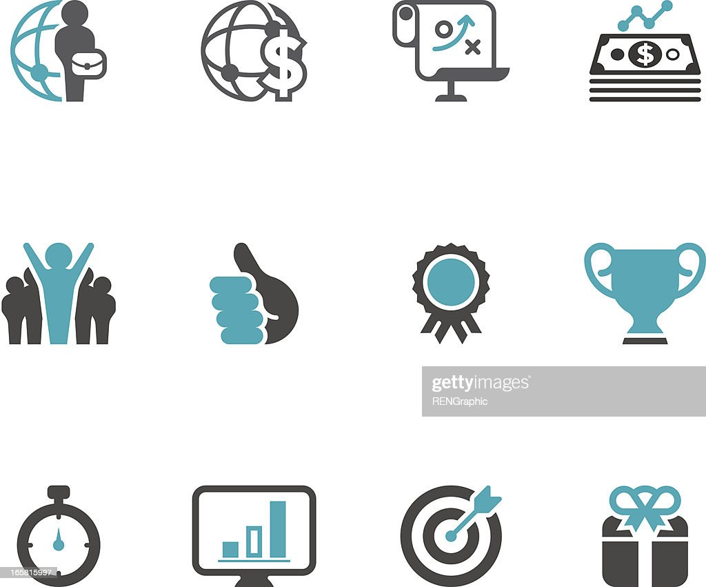 Business & Success Icon Set | Concise Series : stock illustration