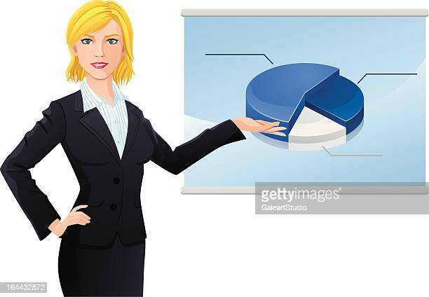 business-Frau und flipchart 2
