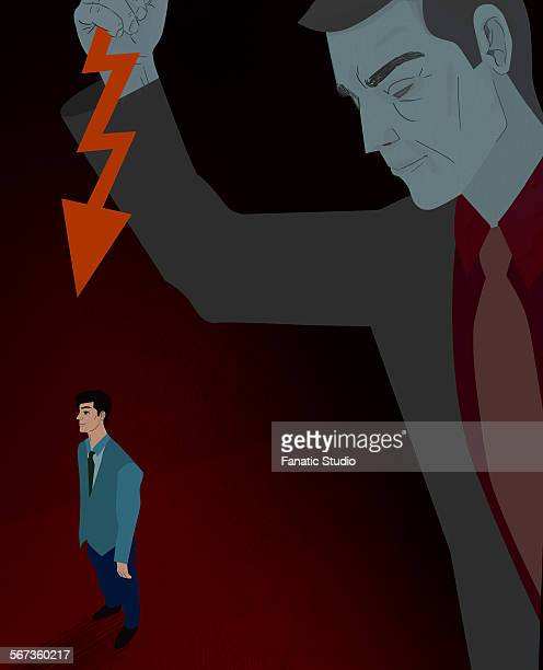 businessman being stabbed in the back - office politics stock illustrations, clip art, cartoons, & icons