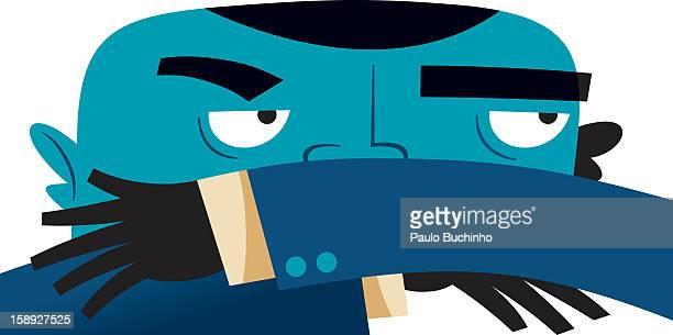 ilustrações de stock, clip art, desenhos animados e ícones de a businessman covering his face - buchinho