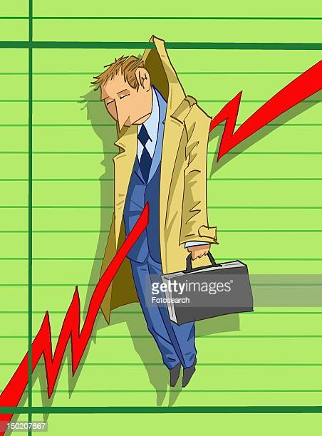 Businessman defeated by stock market failure