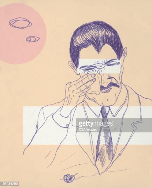 ilustrações de stock, clip art, desenhos animados e ícones de empresário - desconfortável