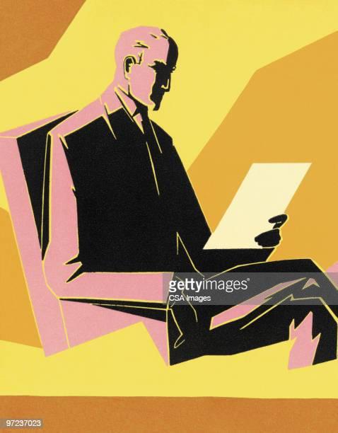 businessman - report stock illustrations