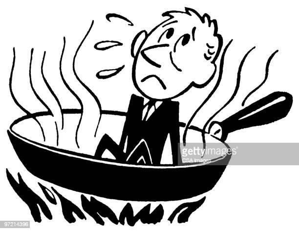 businessman in Frying Pan