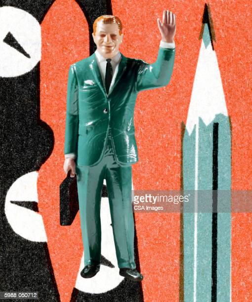 ilustraciones, imágenes clip art, dibujos animados e iconos de stock de businessman in green suit - figurine