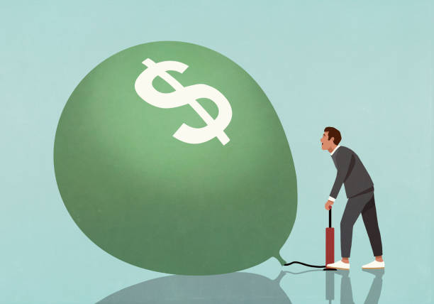 businessman inflating dollar sign balloon with tire pump illustration id1264127452?k=6&m=1264127452&s=612x612&w=0&h=0YBgYomM0NtPpq IW pANRC PjFSWOlypZkNeAUmX8k=