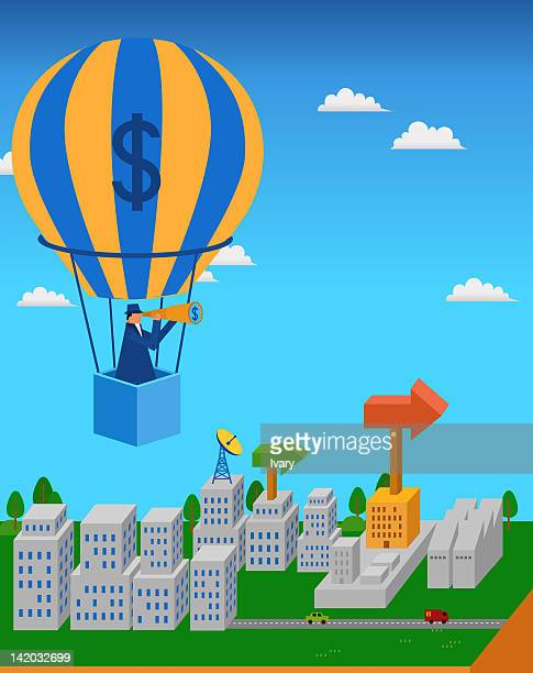 businessman pulling the dollar sign with pulley - cash flow stock illustrations, clip art, cartoons, & icons