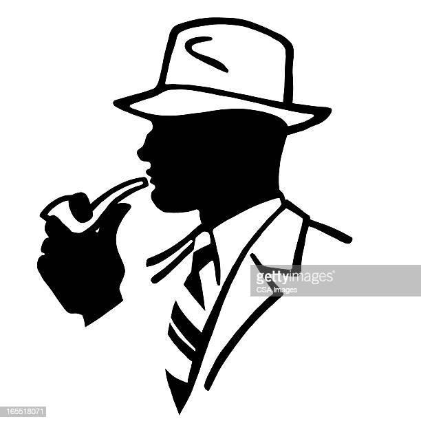 Businessman Smoking a Pipe