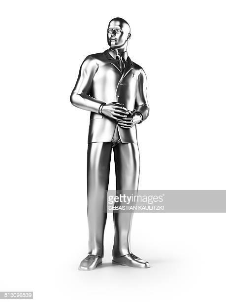businessman standing, artwork - gray suit stock illustrations